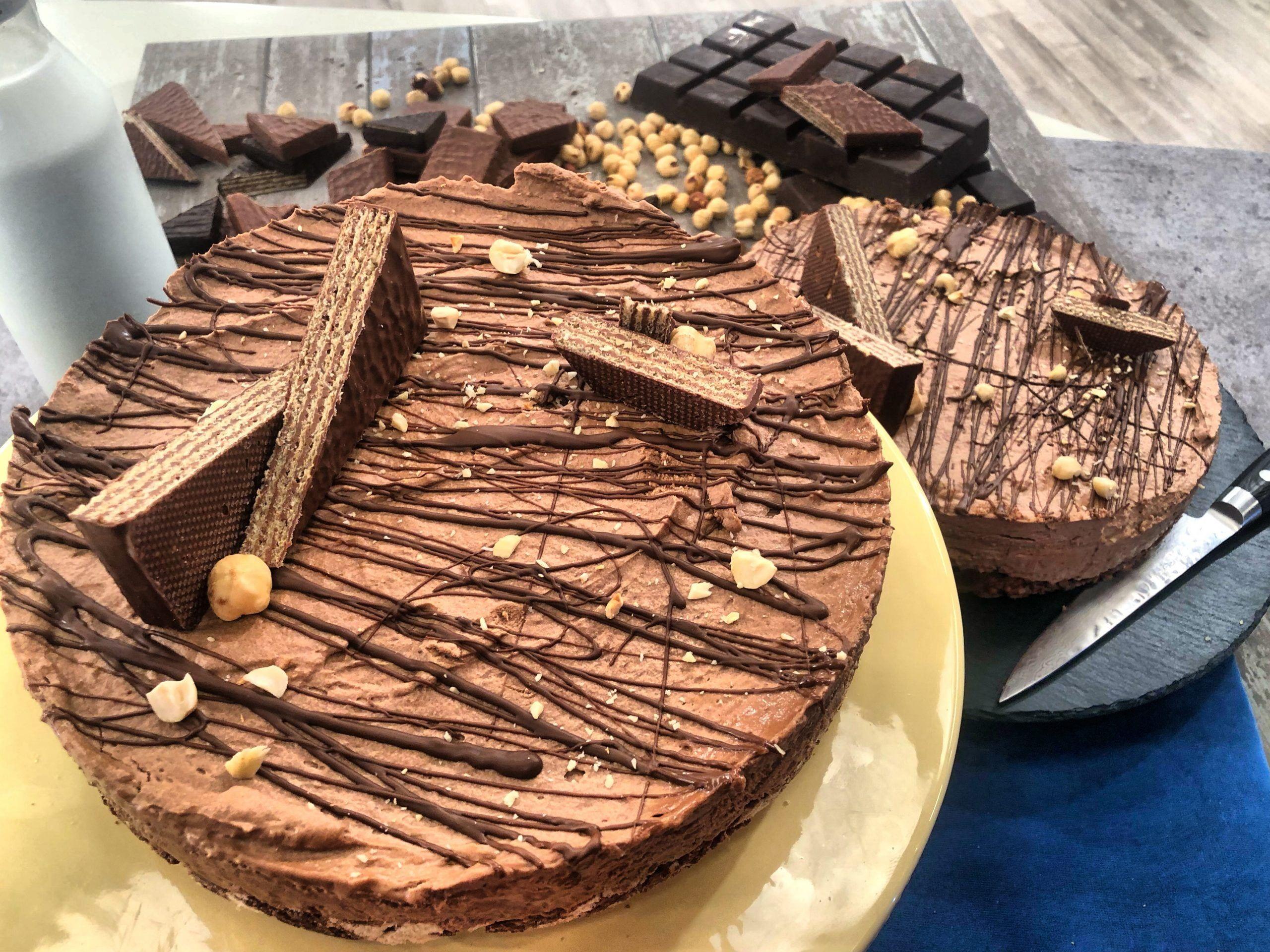 τούρτα με γκοφρέτες