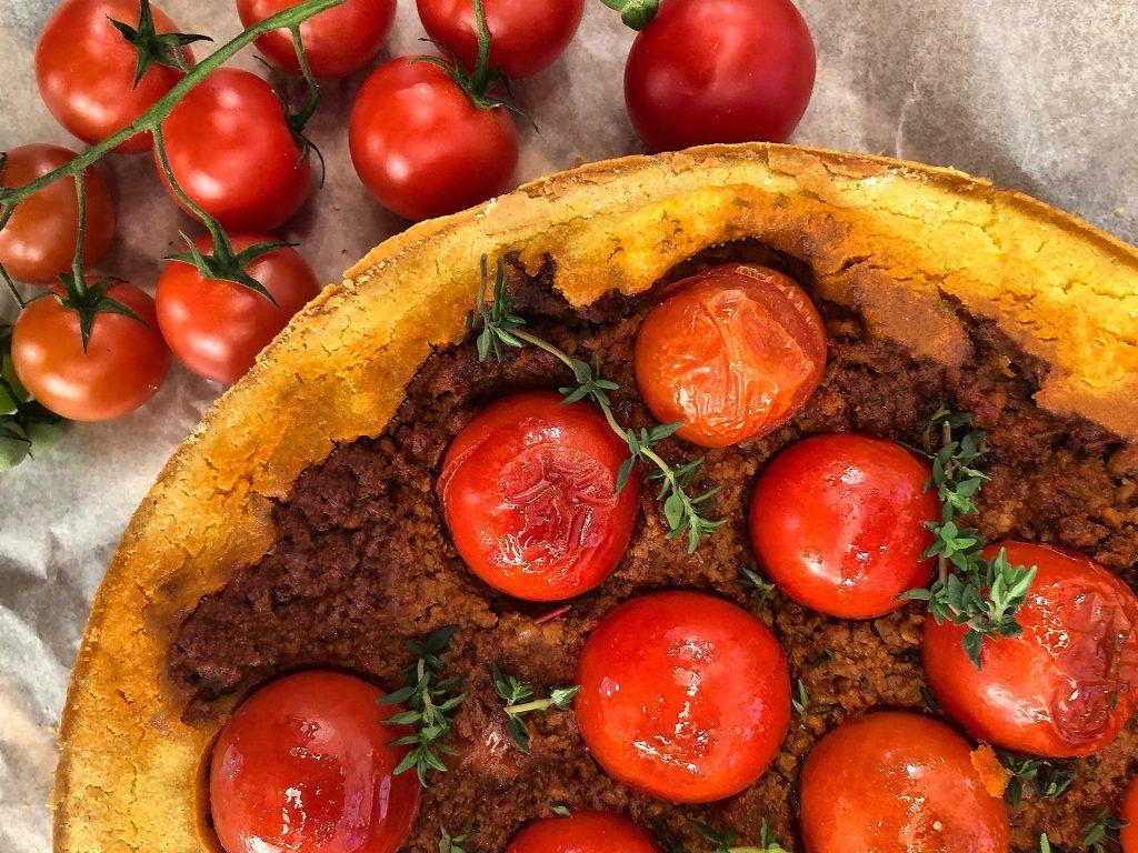 Αλμυρό Κέικ με Κιμά και Τοματίνια | Λάμπρος Βακιάρος