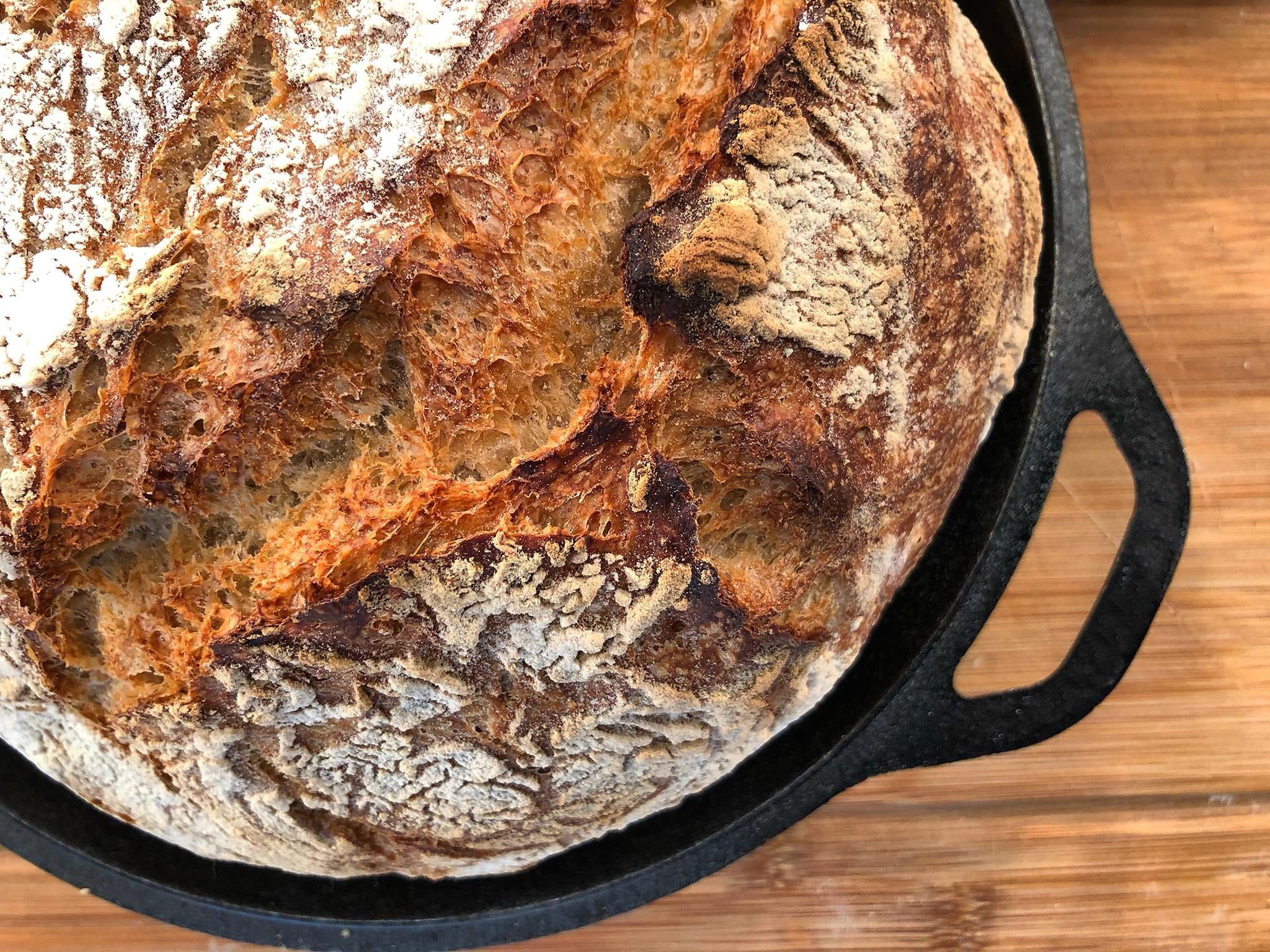 Τραγανό Ψωμί χωρίς Ζύμωμα | Λάμπρος Βακιάρος