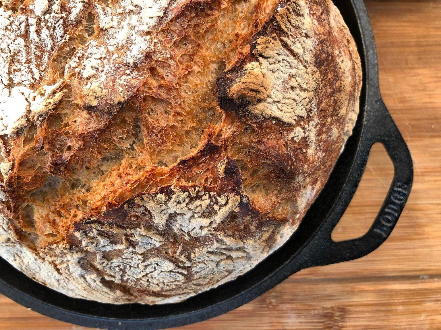 Τραγανό Ψωμί χωρίς Ζύμωμα   Λάμπρος Βακιάρος