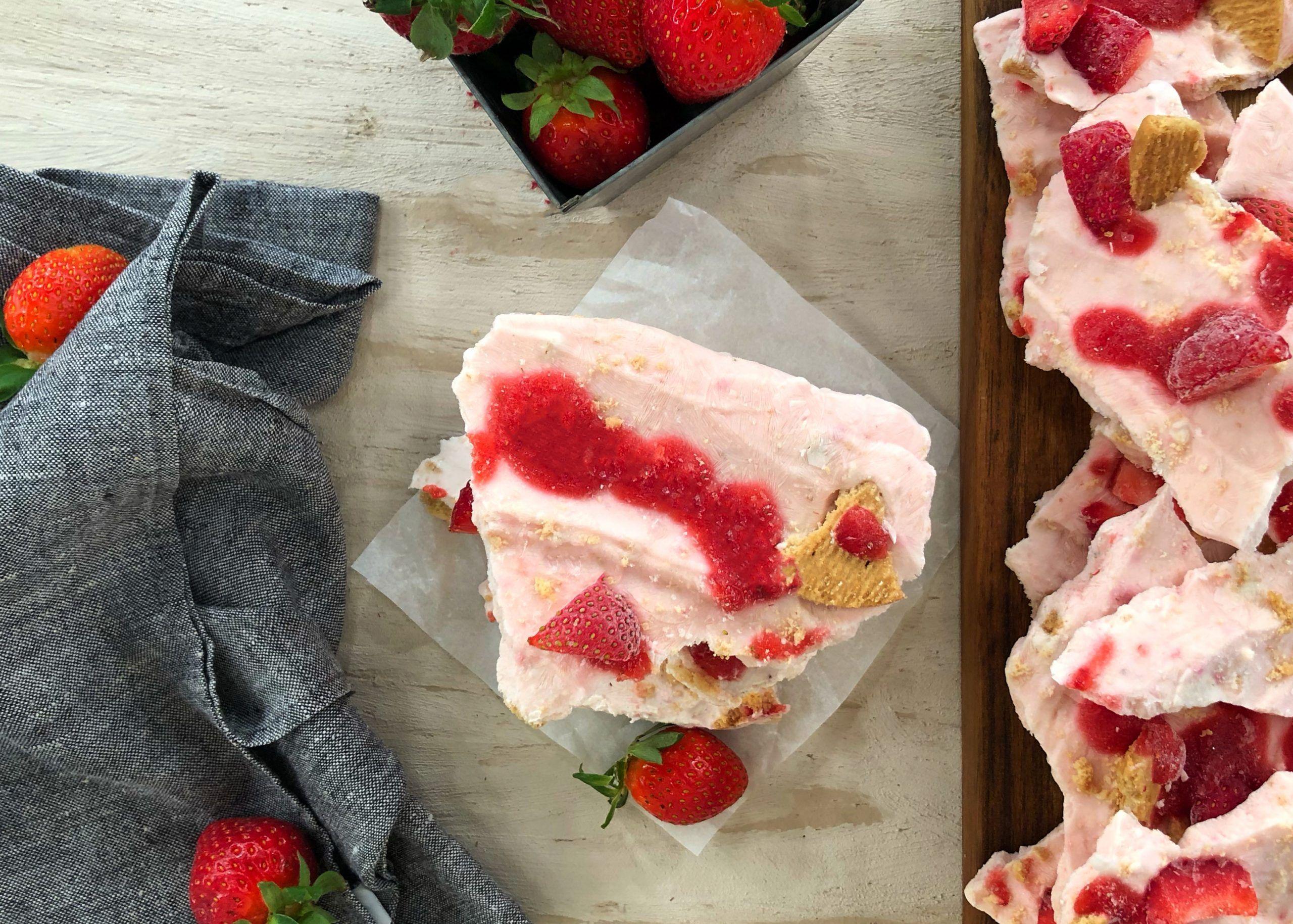 Παγωμένες Μπάρες Γιαουρτιού CHEESECAKE Φράουλα | Λάμπρος Βακιάρος
