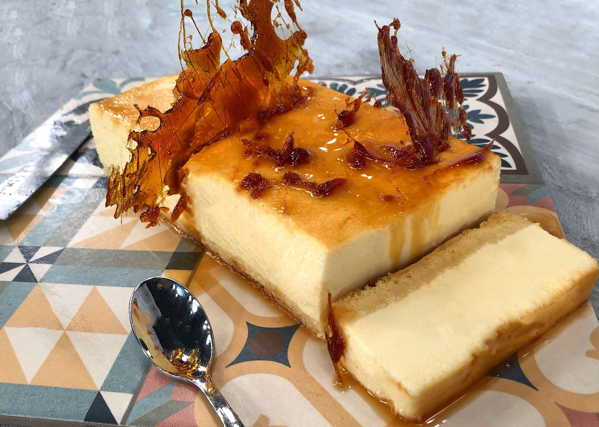 Κρέμα καραμελέ με παντεσπάνι σε φόρμα κέικ   Λάμπρος Βακιάρος