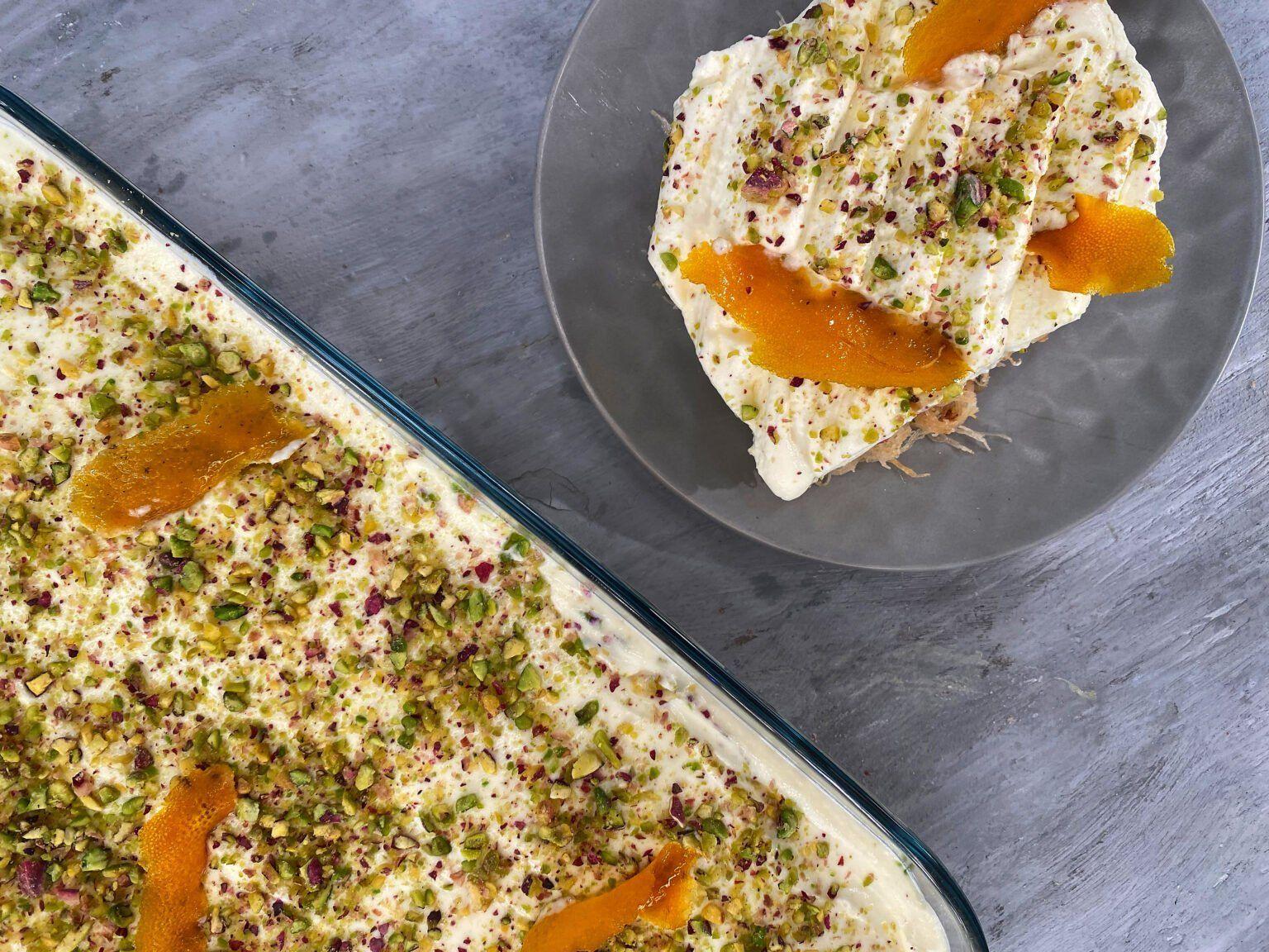 Εκμέκ με Σιμιγδαλένια Κρέμα Πορτοκαλιού