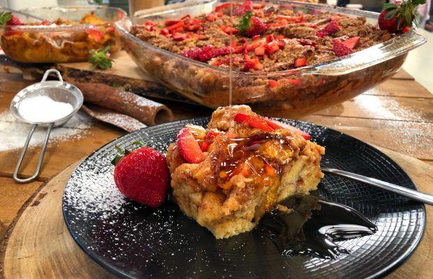 Γαλλικές Αυγόφετες στο φούρνο με Φράουλες