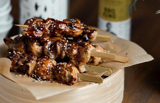 Yakitori με σάλτσα τεριγιάκι