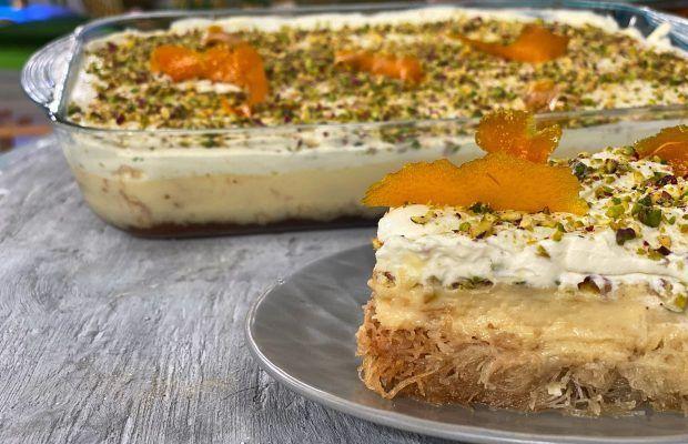 Εκμέκ με Σιμιγδαλένια Κρέμα Πορτοκαλιού Lambros Vakiaros