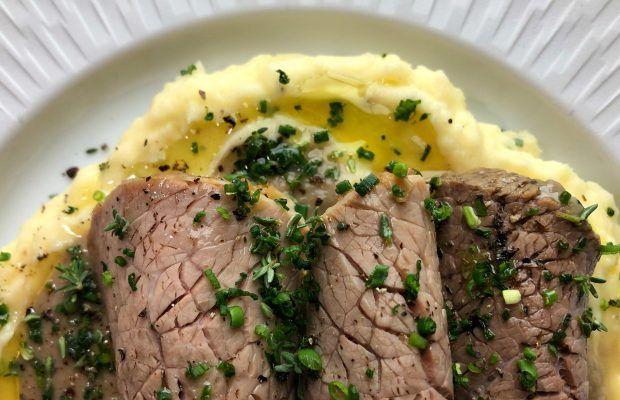 Νουά με πουρέ πατάτας και σάλτσα μανιταριών | Λάμπρος Βακιάρος