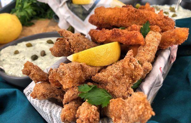 Τραγανές Ψαροκροκέτες με σάλτσα Ταρτάρ