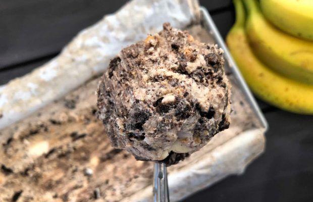 Εύκολο Παγωτό με Μπισκότα, Μπανάνα και Φυστικοβούτυρο | Λάμπρος Βακιάρος