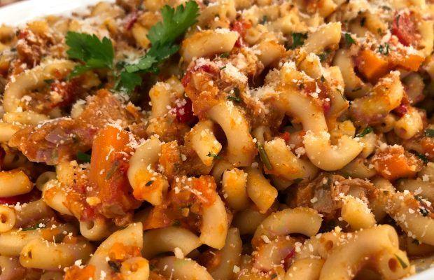 Ραγού λαχανικών με ζυμαρικά | Λάμπρος Βακιάρος