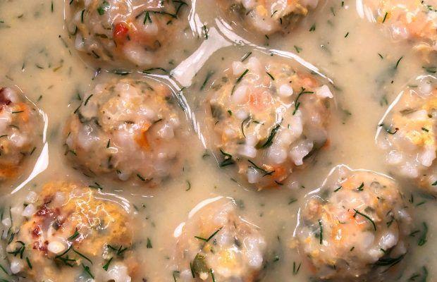 Γιουβαρλάκια Κοτόπουλου με λάιμ και κρέμα λεμονιού   Λάμπρος Βακιαρος