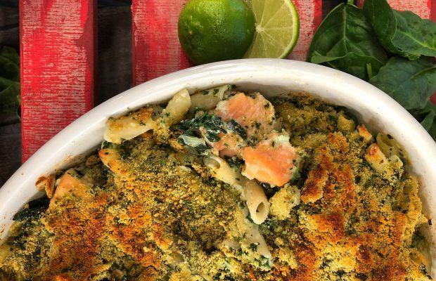 Ζυμαρικά με Σπανάκι Σολομό και τυρί κρέμα   Λάμπρος Βακιάρος