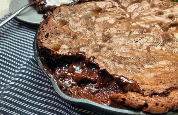 Μαλακό Μπισκότο Βrownie Γίγας με Παγωτό Βανίλια | Λάμπρος Βακιαρος