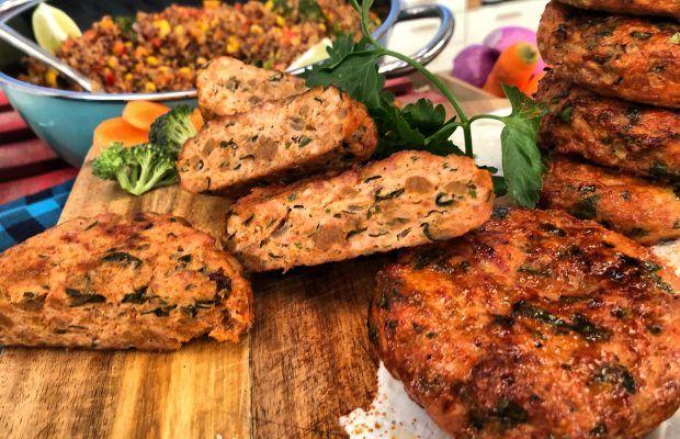 Μπιφτέκια κοτόπουλο με Stir Fry Λαχανικών | Λάμπρος Βακιάρος