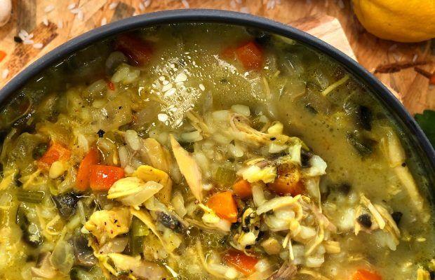 Θρεπτική Κοτόσουπα με Λαχανικά και Ρύζι | Λάμπρος Βακιάρος