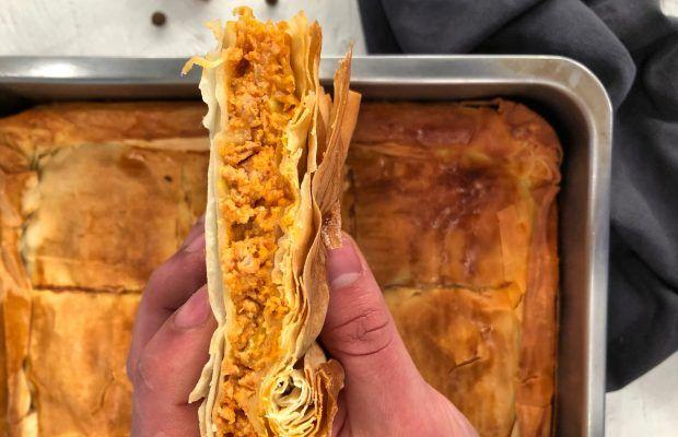 Κιμαδόπιτα με κιμά κοτόπουλου | Λάμπρος Βακιάρος