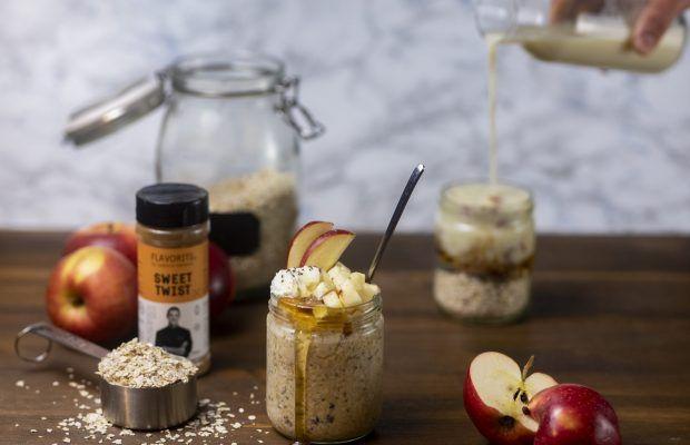 overnight oats μηλοπιτα λαμπρος βακιαροα
