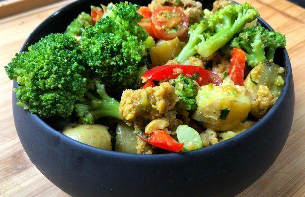 Ζεστή Σαλάτα Γεύμα με Μπρόκολο Λαχανικά και Βινεγκρετ Μελιού |Λάμπρος Βακιάρος