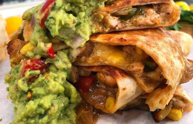 quesadillas με κοτοπουλο