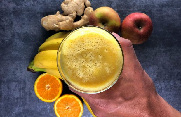smoothie banana orange ginger