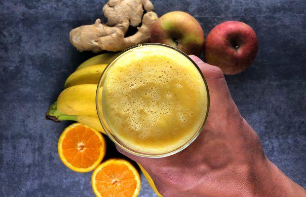 smoothie banana orange ginger